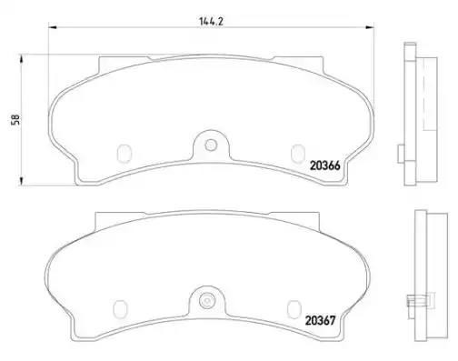 Brembo P61011 Front Disc Brake Pad Set of 4