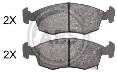 Brembo P11031 Front Disc Brake Pad Set of 4