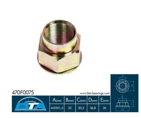 ABS 910050 Nut Stub Axle